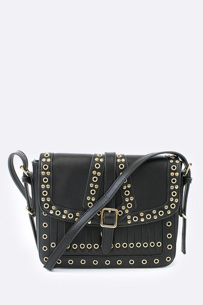 Mix Studs Crossbody Work Bag - orangeshine.com