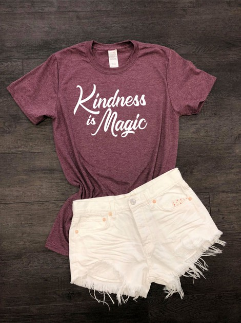 Kindness is Magic Crew Neck Tee - orangeshine.com