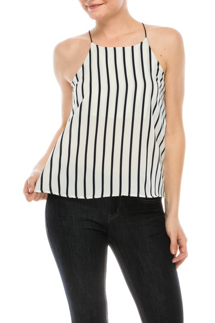 Striped Tank Top - orangeshine.com