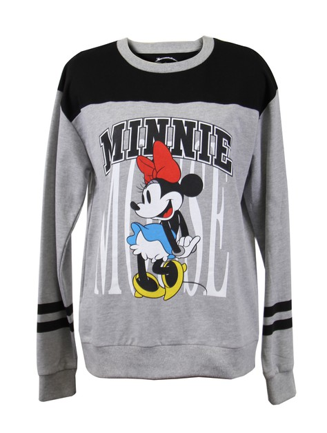 DISNEY MINNIE Grey Crewneck Sweater - orangeshine.com