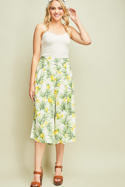 Lemon print pants - orangeshine.com