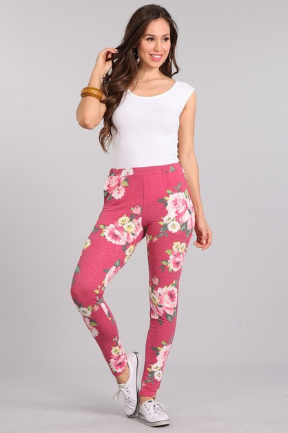 FLORAL KNIT PANTS - orangeshine.com