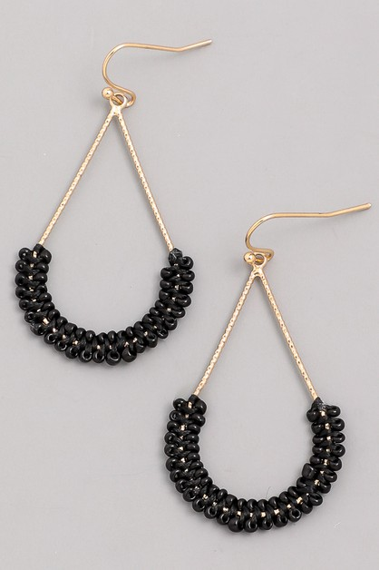 Bead Grazer Dangle Earrings - orangeshine.com