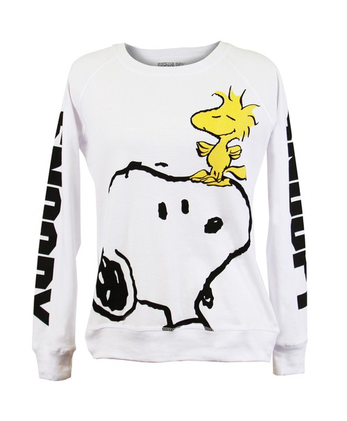 Snoopy Graphic Letter White Sweater - orangeshine.com