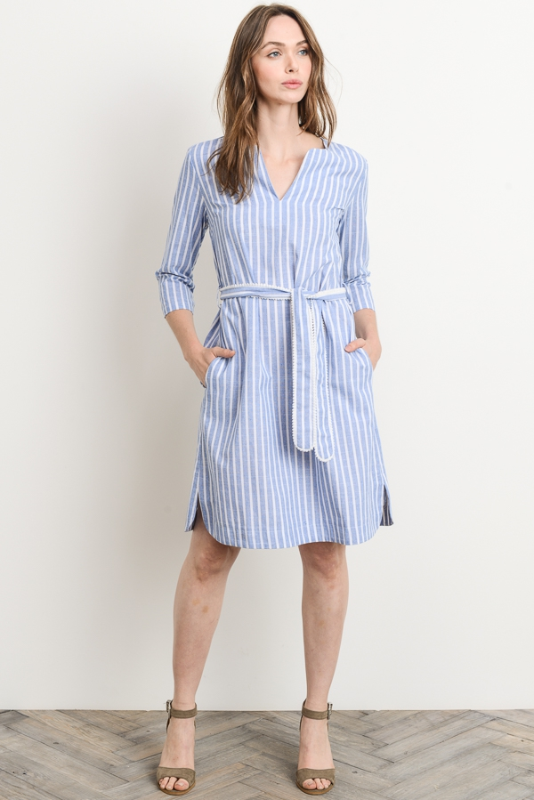 Stripe Dress - orangeshine.com
