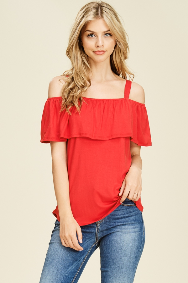 OFF SHOULDER SPAGHETTI STRAP TOP - orangeshine.com