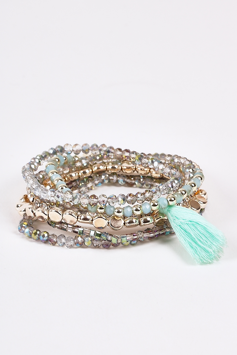 Crystals Stretchy Beaded Bracelets - orangeshine.com