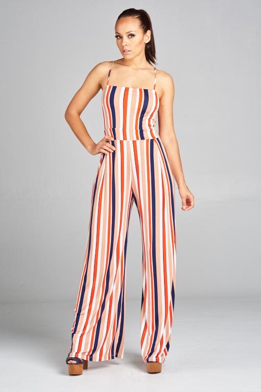 d5364d739898 Multi color striped jumpsuit - orangeshine.com. WIN WIN APPAREL ...