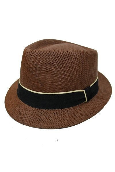 Sleek Black Ribbon Fedora - orangeshine.com