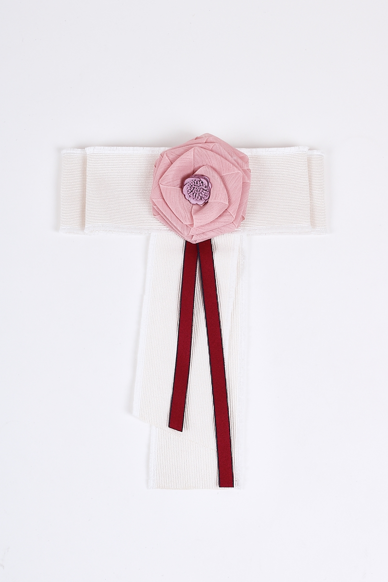 Woven Rose Brooch Laced Pin Bow Tie - orangeshine.com
