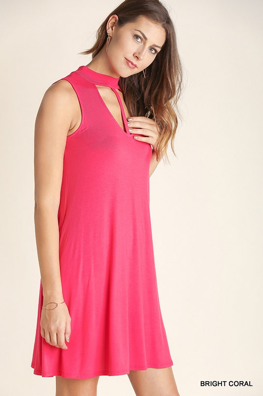 SLEEVELESS SWING DRESS - orangeshine.com