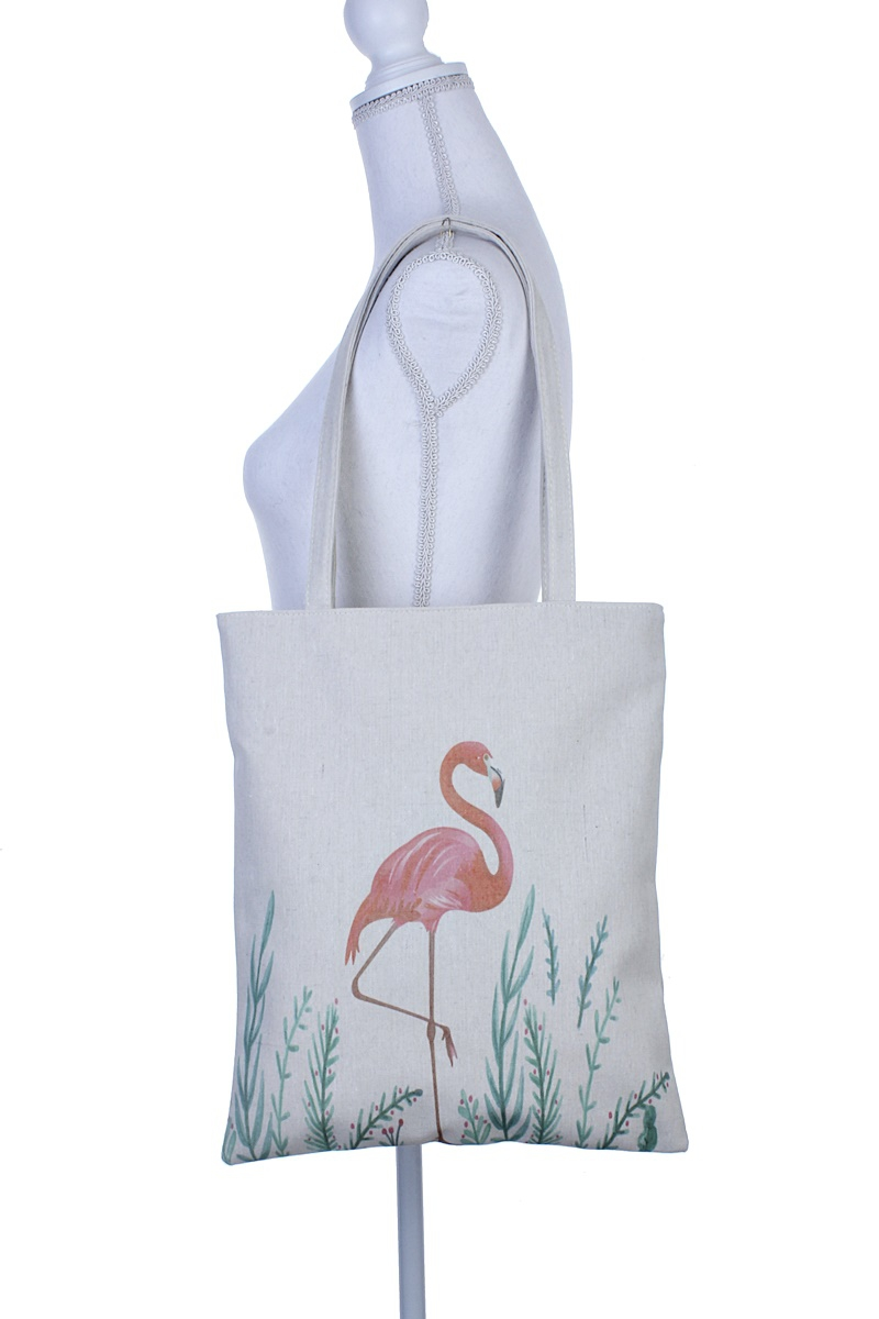 FLAMINGO PRINT TOTE BAG - orangeshine.com