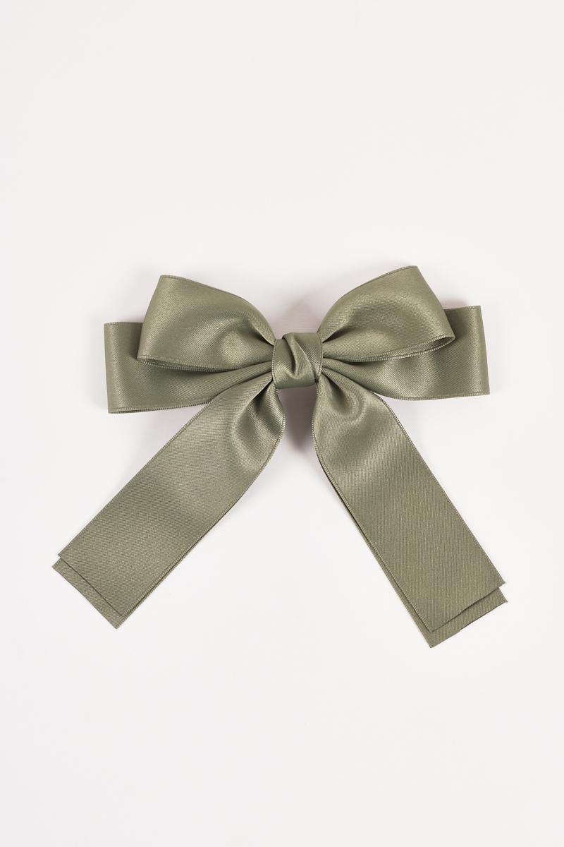 Satin Classic Laced Bow Hair Pin Acc - orangeshine.com