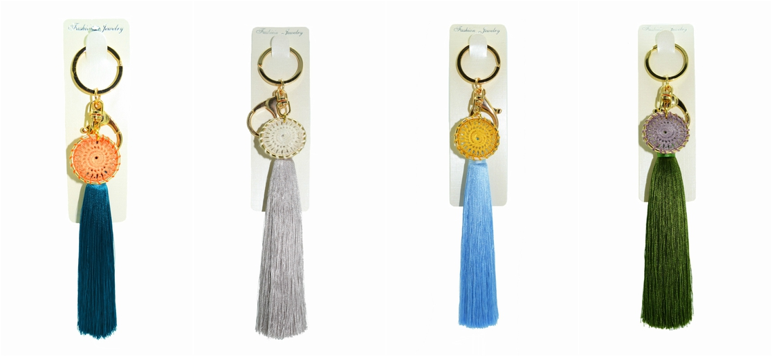 Dream Catcher Silk Tassel Keychain - orangeshine.com