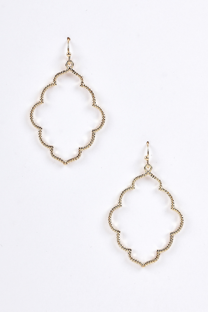 Textured Dangling Chic Earrings - orangeshine.com