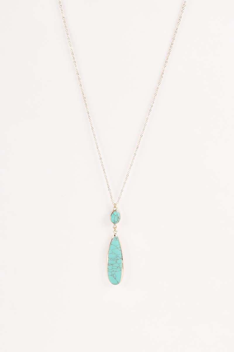 Chic Long Chains Gemstones Necklaces - orangeshine.com