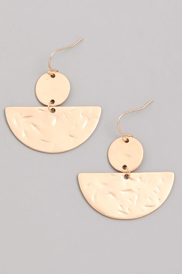 Halo Horizon Matte Dangle Earrings - orangeshine.com