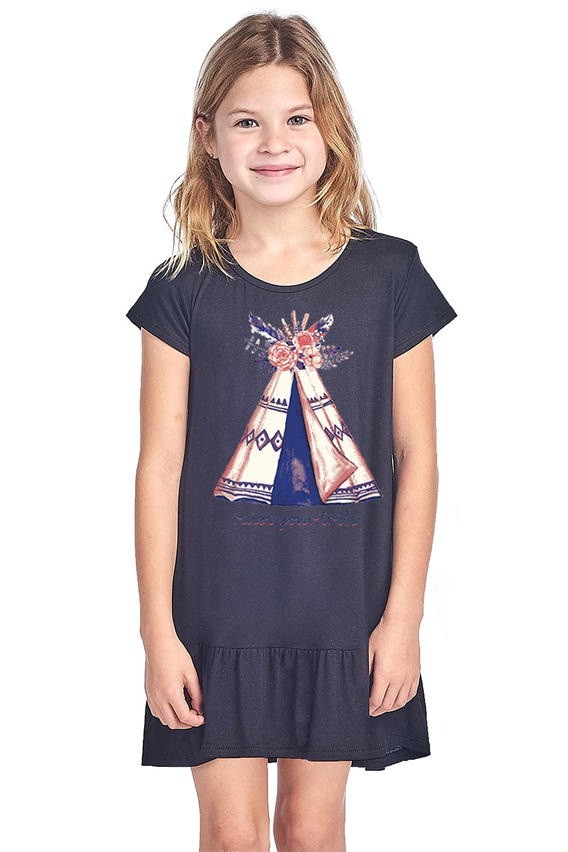 KID GRAPHIC DRESS - orangeshine.com