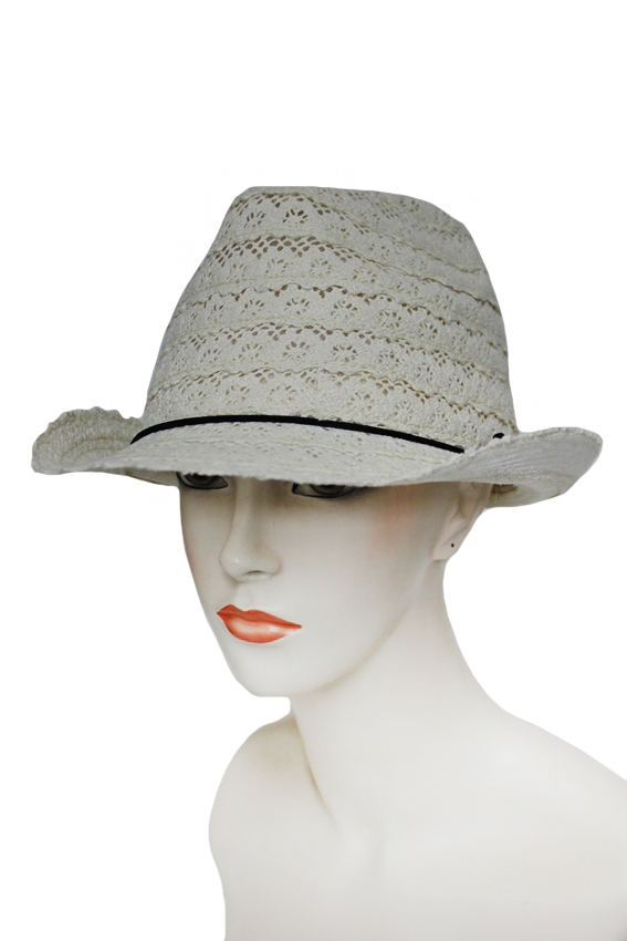 Lace Flower Pattern Fedora - orangeshine.com