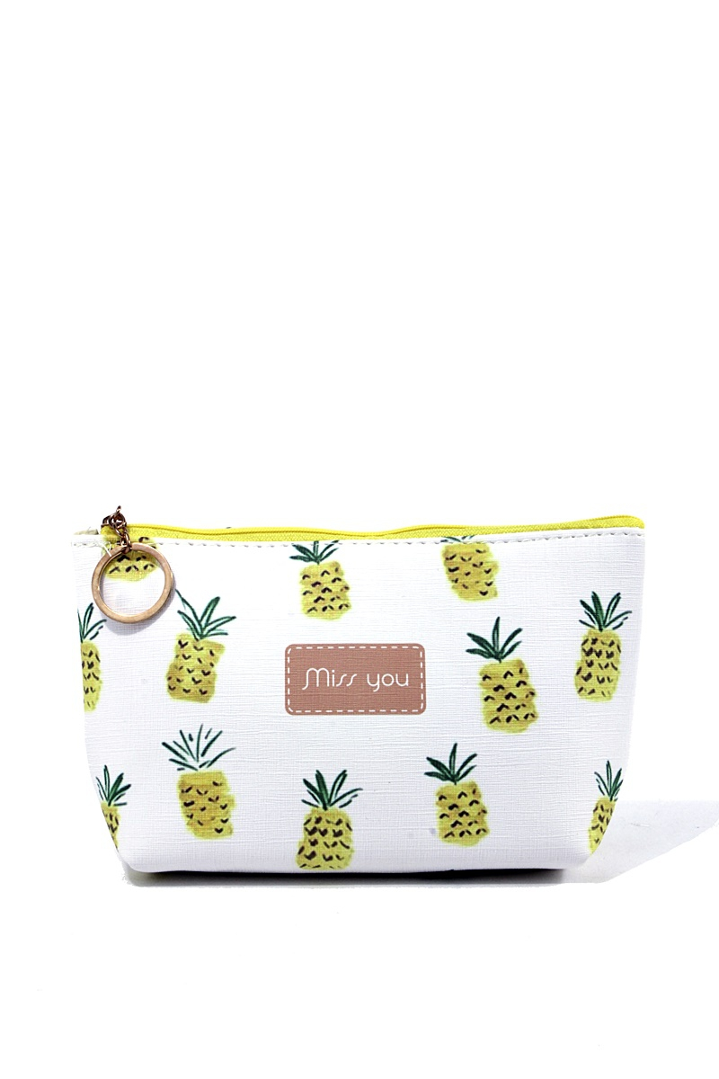 MISS YOU PINEAPPLE PRINT COSMETIC  - orangeshine.com