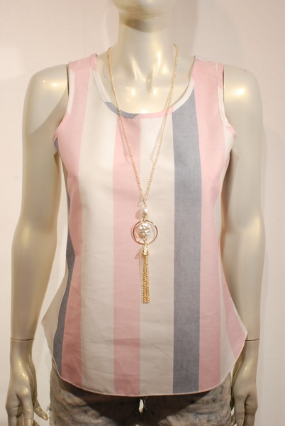 printed tank top with accessory - orangeshine.com