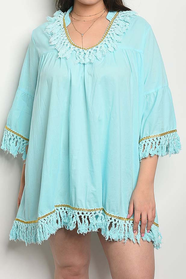 TASSEL FRINGE W SEQUIN DETAIL DRESS - orangeshine.com