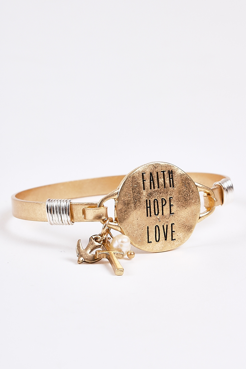 Faith Hope and Love Antique Bracelet - orangeshine.com
