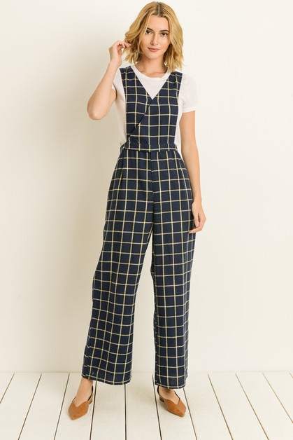 Plaid jumpsuit - orangeshine.com