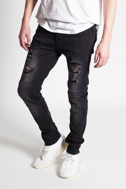 ACID AND DESTROY MOTO JEANS - orangeshine.com