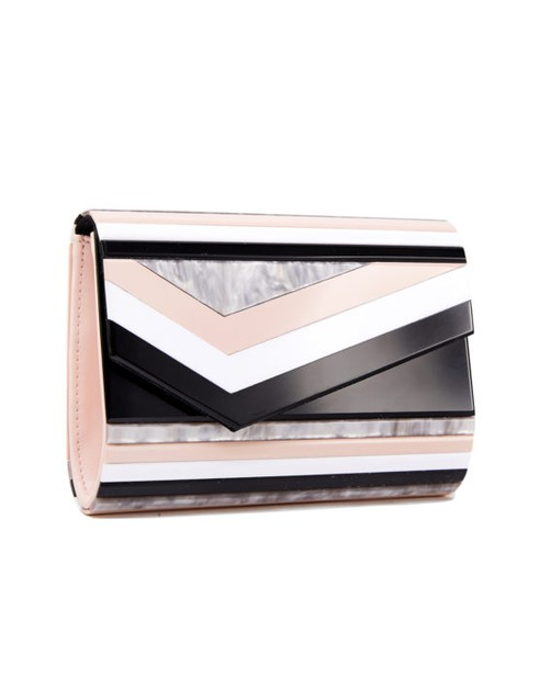 Abstract Print Clutch - orangeshine.com