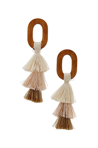 TASSEL LAYER DROP EARRING - orangeshine.com