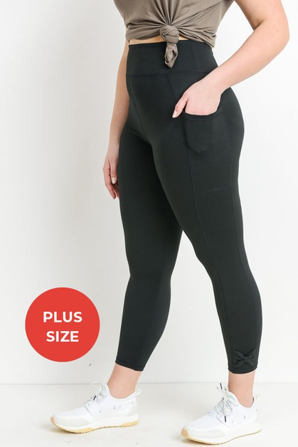 Bow Accent Highwaist Full Leggings - orangeshine.com