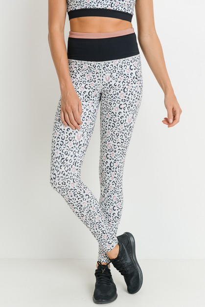 Highwaist Leopard  Full Leggings - orangeshine.com