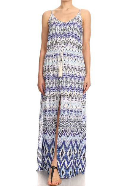 Tribal Aztec Maxi Dresses Summer  - orangeshine.com