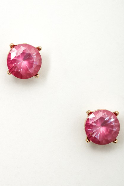 Colored Crystals Studded Earrings - orangeshine.com