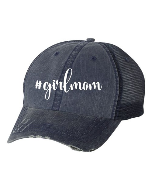 Hashtag Girlmom Trucker Hat - orangeshine.com