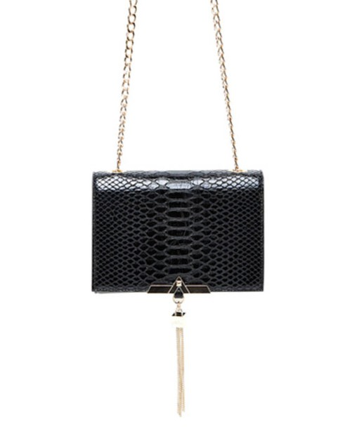 Faux Snake Skin Flap Crossbody - orangeshine.com
