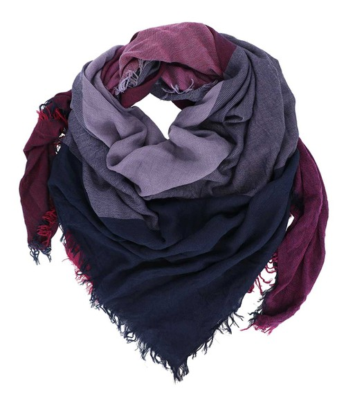 Purple Square Fringe Scarf - orangeshine.com