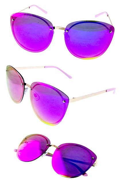 Womens rimless loop style sunglasses - orangeshine.com