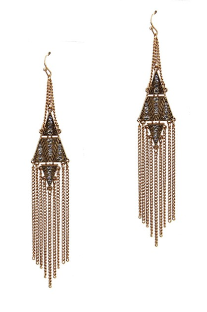 Fringe Chandelier Earrings - orangeshine.com