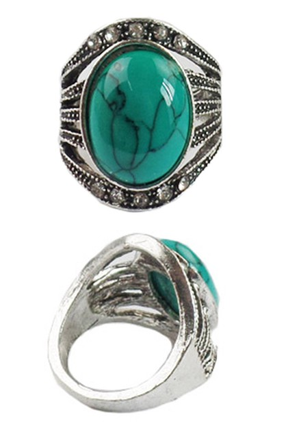 Turquoise Gemstone Ring - orangeshine.com