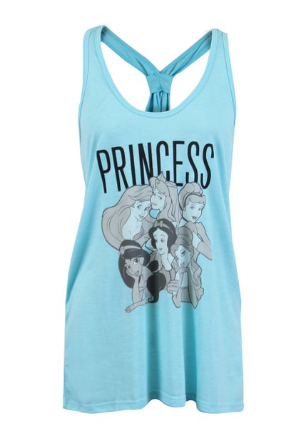 Disney Princess Sleeveless Tank Top - orangeshine.com