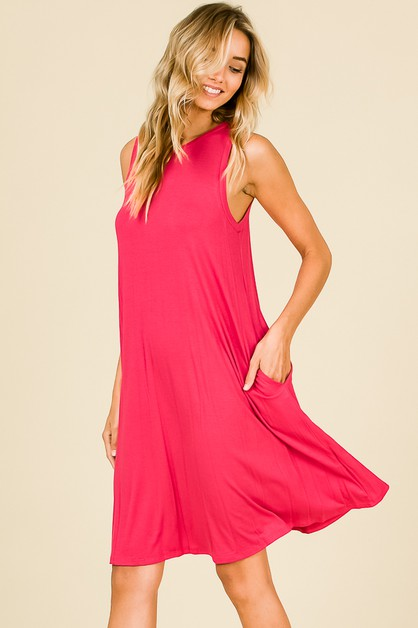 CASUAL SOLID DRESS - orangeshine.com