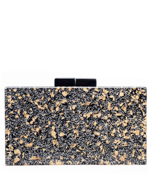 Black Acrylic Box Clutch  - orangeshine.com