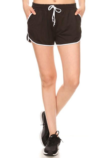 Solid Sports Track Workout Shorts  - orangeshine.com
