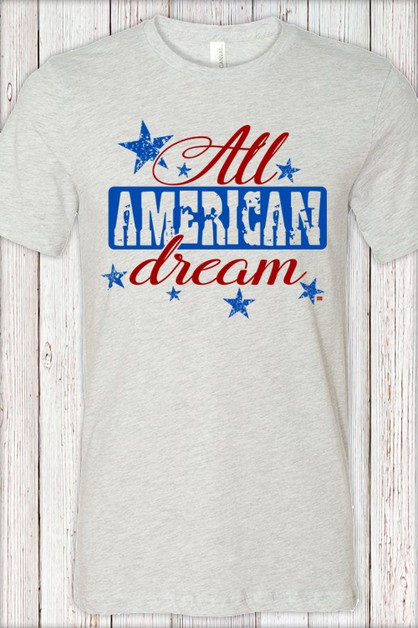 All American Dream Crew Soft Tee - orangeshine.com