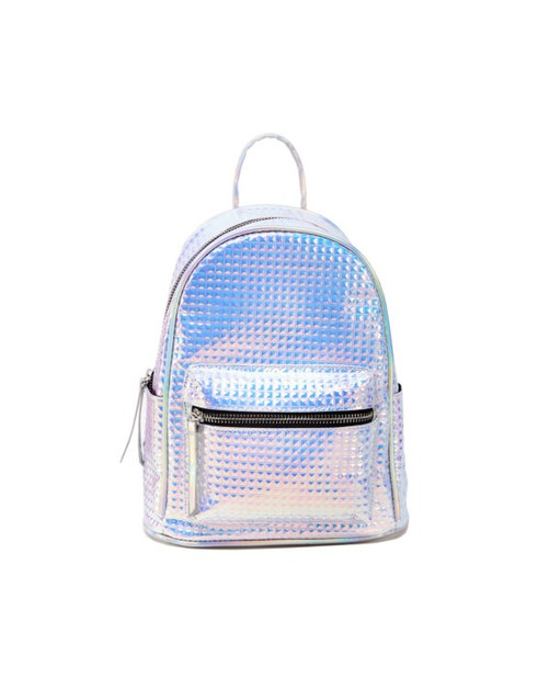 Uniquely Quilted Metallic Backpack - orangeshine.com