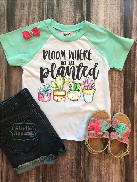 Bloom where you are Planted Toddler  - orangeshine.com