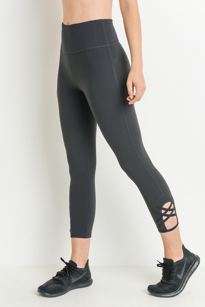 Double Criss-Cross High Waist Capri  - orangeshine.com