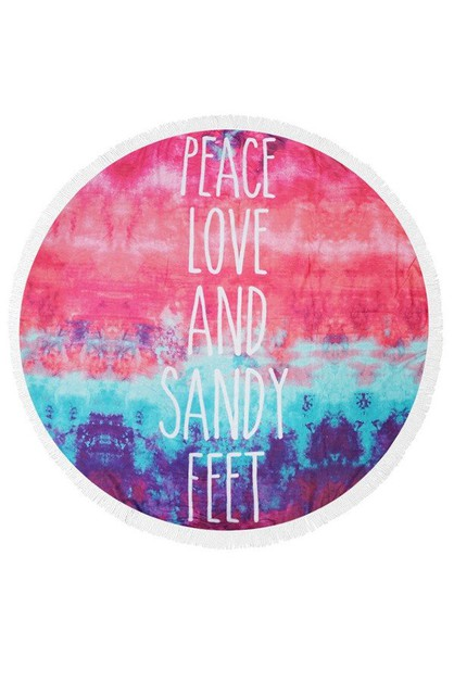 PEACE LOVE SANDY FEET Terry Beach - orangeshine.com